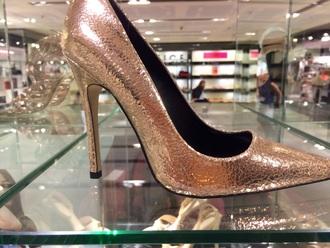 shoes gold heels rose gold high heels cute high heels gold shoes