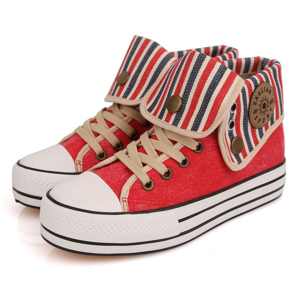 high top sneaker sneakers high sneakers shoes platform shoes canvas