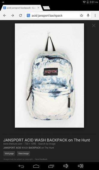 bag jansport acid wash backpack acid