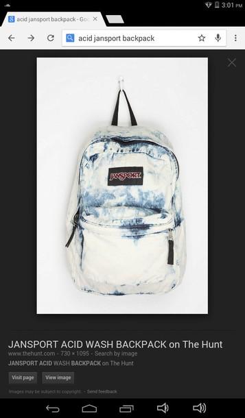 bag jansport acid wash backpack acid wash