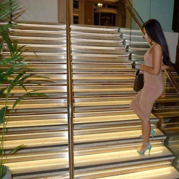 dress heels green nude sexy summer outfits