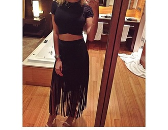 skirt black black skirt