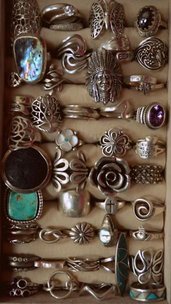 jewels silver earthy ring boho earth tones
