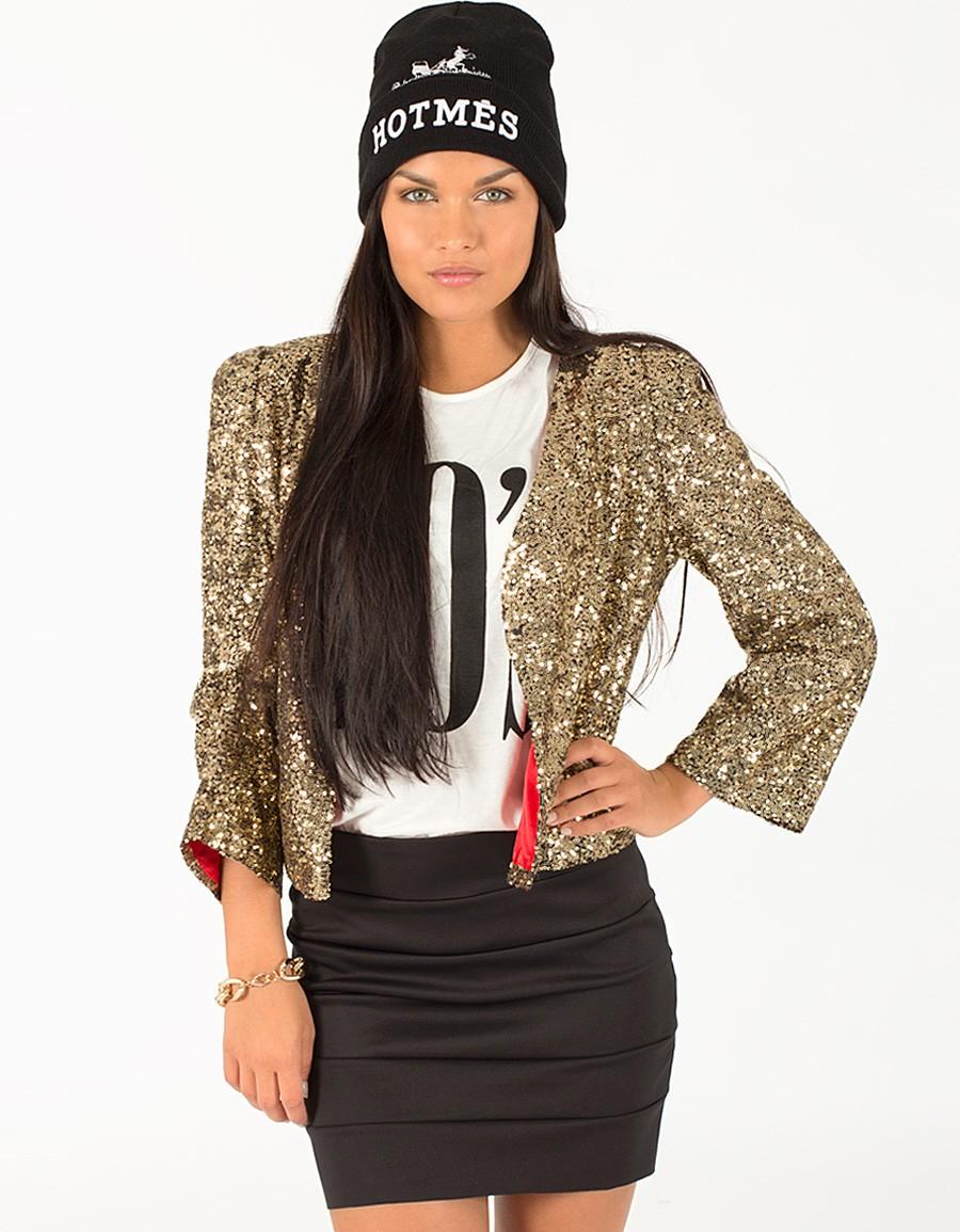 Gold Blazer - Gold Sequin Blazer | UsTrendy