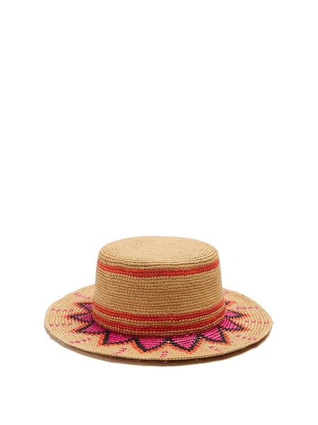Sensi Studio hat straw hat pink