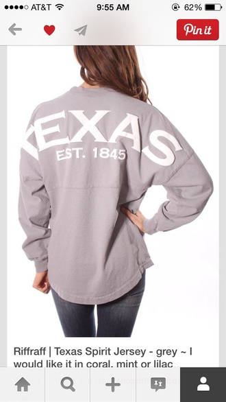 t-shirt spirit jersey texas texas flag
