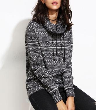 sweater girl girly girly wishlist tribal pattern hoodie fall sweater
