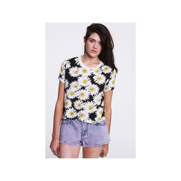 Truly Madly Deeply Daisy Tee Blue - Polyvore
