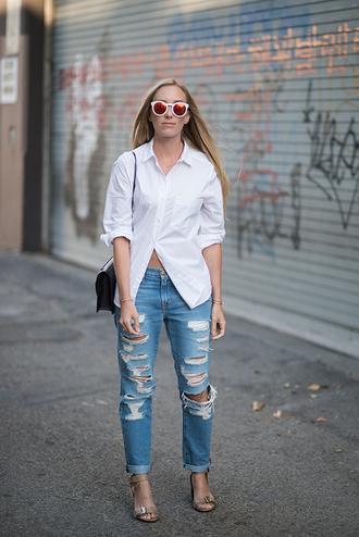 eat sleep wear blogger top shoes bag jeans