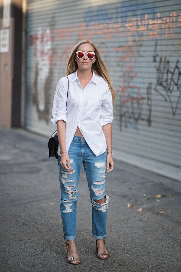 eat sleep wear blogger top shoes bag jeans