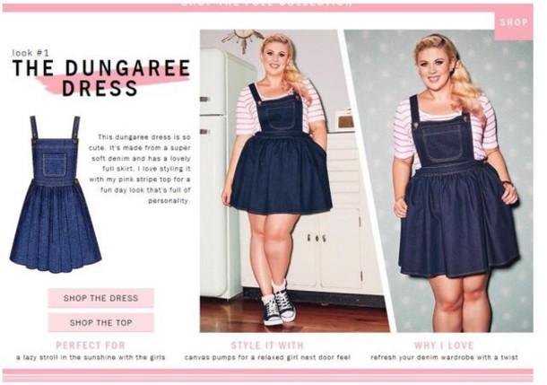 romper, plus size, curvy, pleated skirt, denim, denim ...