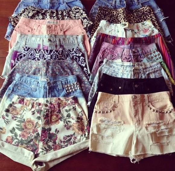 shorts jullnard Choies denim summer outfits studs floral houndstooth lace leopard print aztec