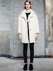 coat,sandro,lookbook,fashion,t-shirt,pants
