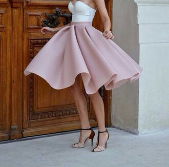skirt summer rose skirt white top dress
