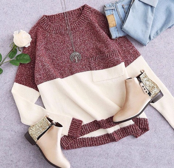 sweater girly sweatshirt knitwear knit knitted sweater