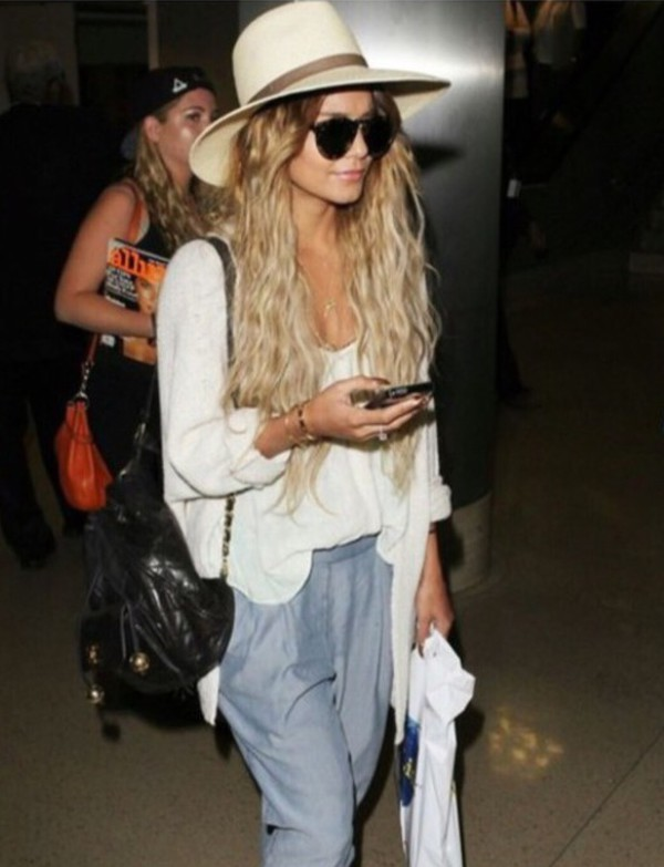 i want this hat ! vanessa hudgens hat summer hat