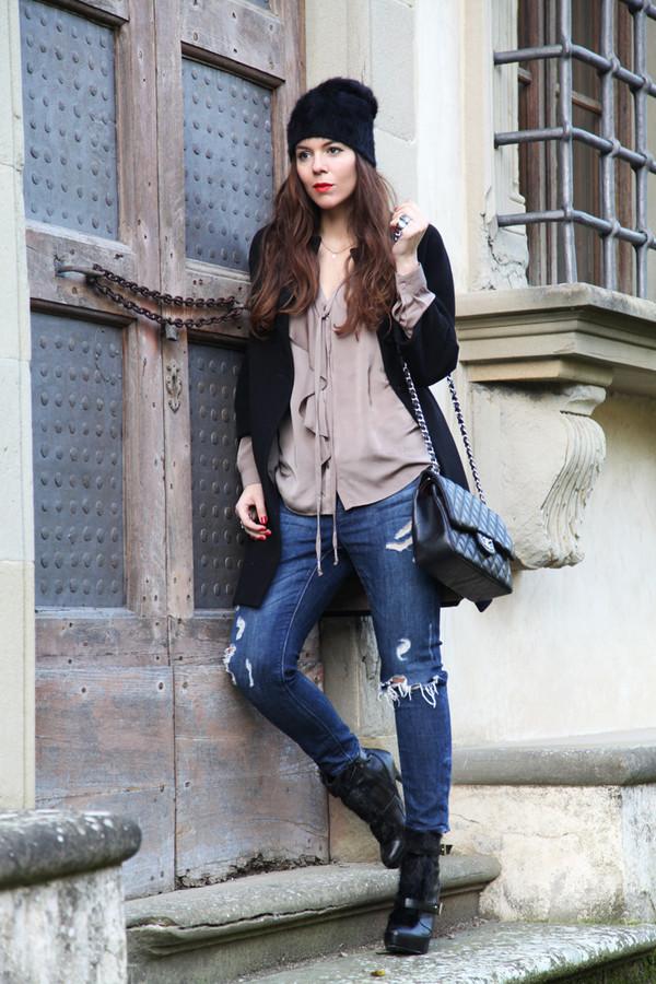 irene's closet jewels bag coat shoes hat jeans blouse