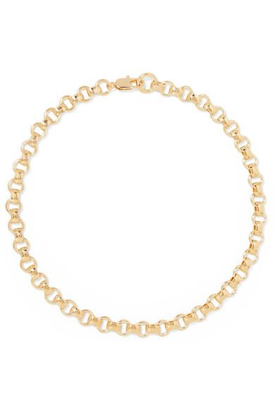 Net Sustain Franca Gold-plated Necklace