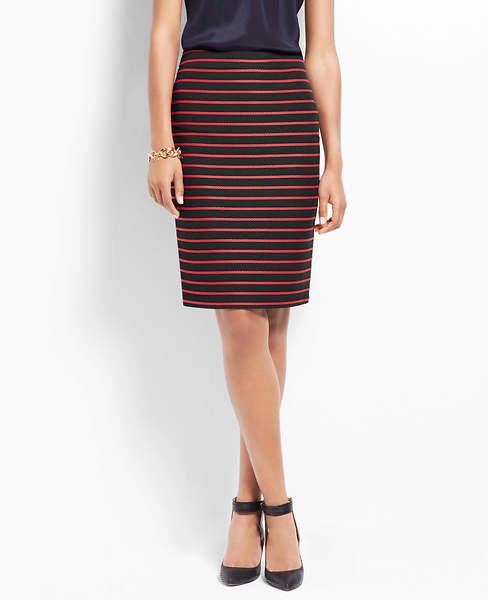 Rope Stripe Pencil Skirt | Ann Taylor