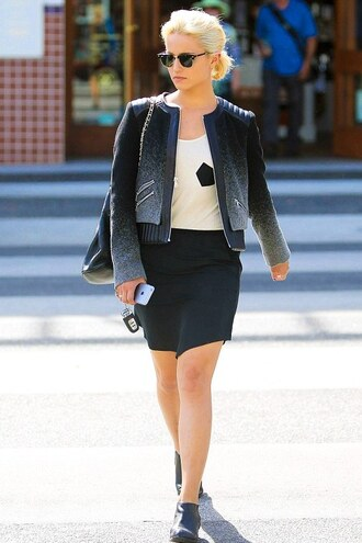 jacket dianna agron shoes fall outfits alexander wang