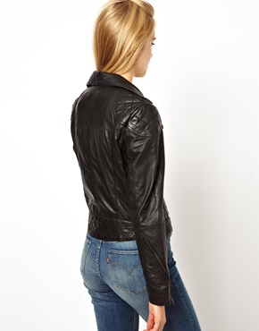 ASOS Petite | ASOS PETITE Exclusive Leather Biker Jacket at ASOS