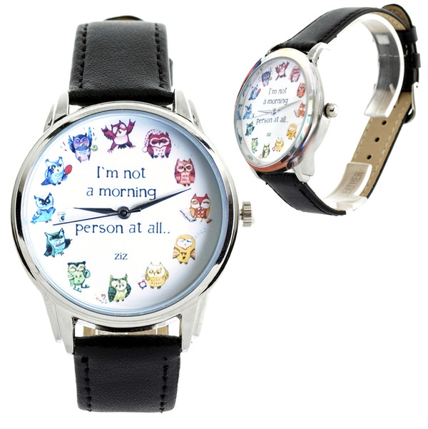 jewels owls watch watch funny watch ziz watch ziziztime colorful