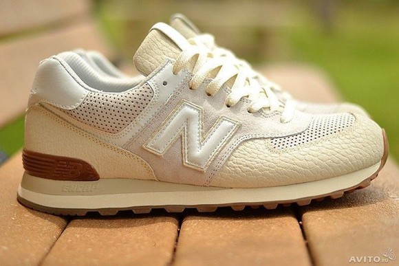 shoes beige shoes new balance new balance 574