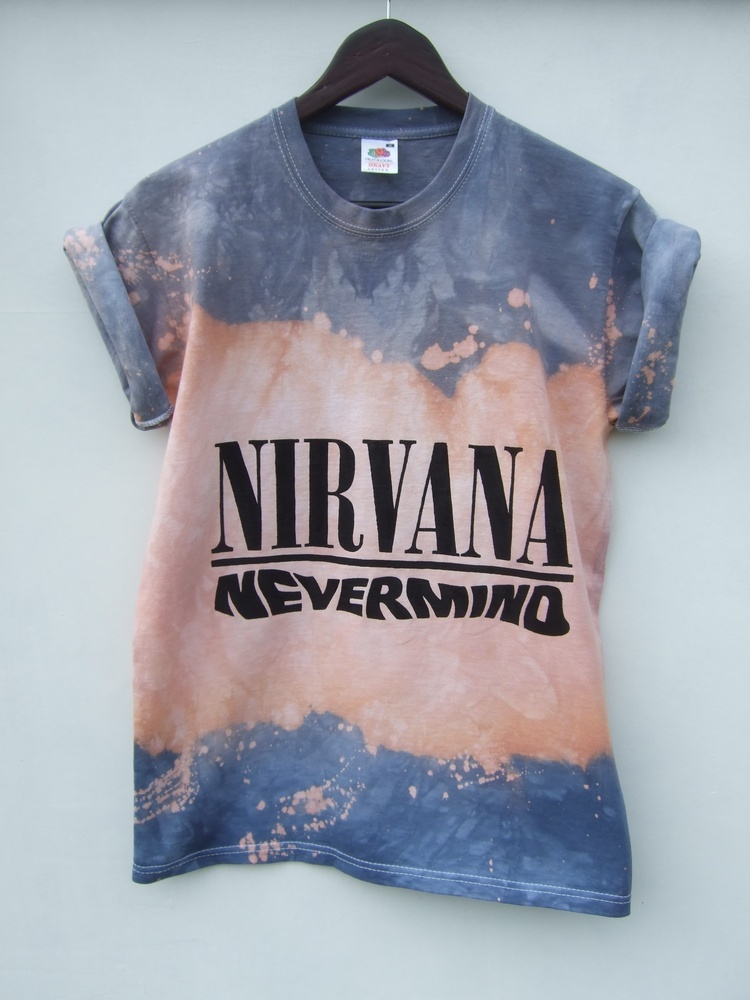 Tappington and wish — dip dye ombre nirvana nevermind t shirt