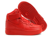 shoes,nike,all red air force ones