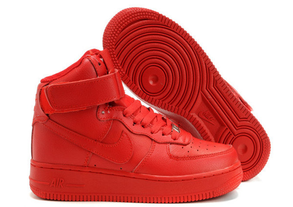 all red air force 1 high top