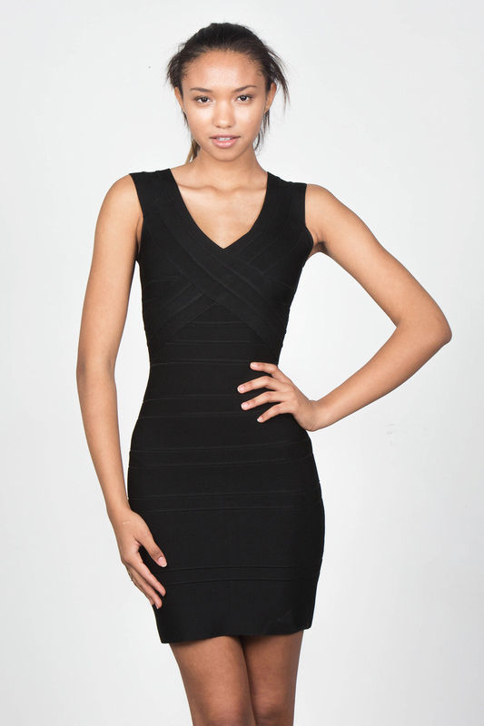 Sexy Black Herve Leger Dress Size 0 Originally $1 100 | eBay