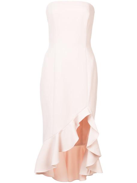 JAY GODFREY dress strapless ruffle women purple pink