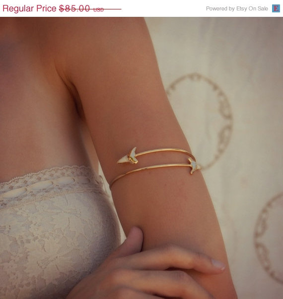 ON SALE Upper Arm Cuff /// Lux Divine Double Shark by luxdivine