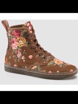shoes brown taupe floral drmartens drmartens drmartens dr.martens