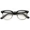 Vintage inspired classic horned rim half frame clear lens glasses 2933
