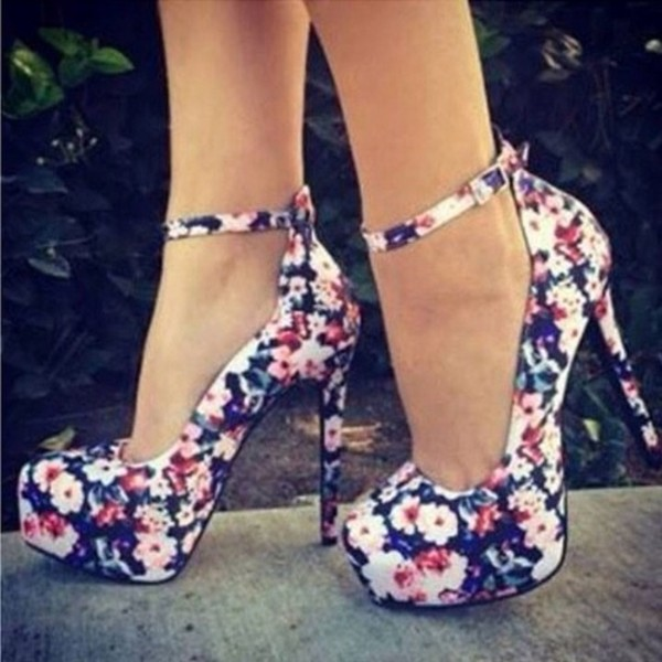 shoes heels high heels cute floral outfit cute dress dress summer