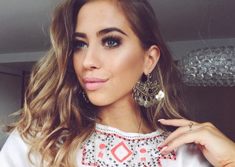 kenza blogger top earrings h&m