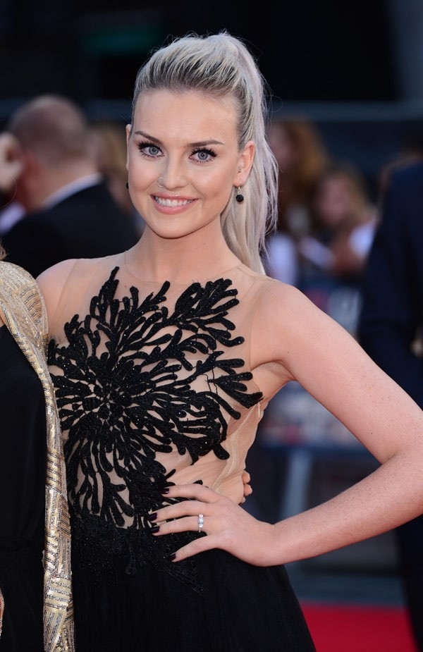 dress perrie edwards nude and black prom dress cute dress