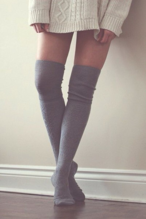 socks long long socks knee high socks sweater