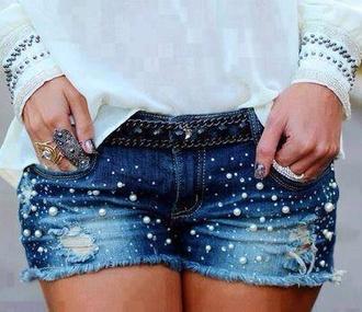 shorts hot pants denim hotpants pearl short vintage classy hot nice summer summer pants highlights