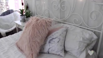 home accessory white pillow marble pink light pink bedding sheets