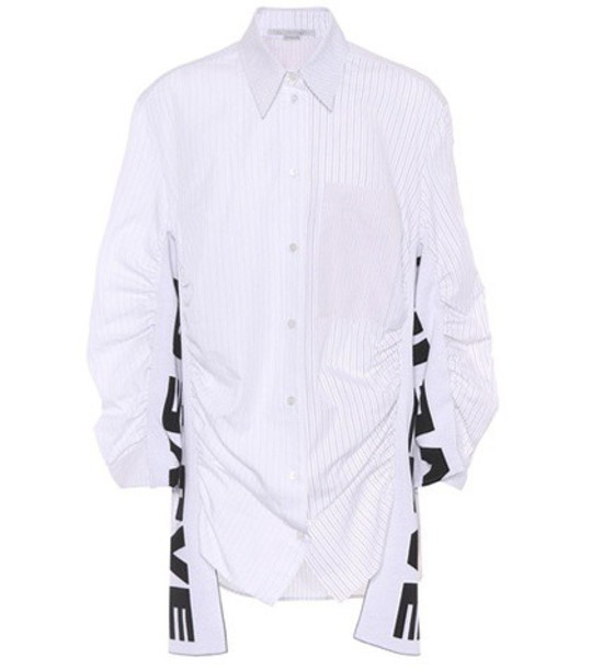 Stella McCartney shirt love cotton white top