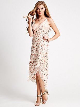 Market Floral Crossover Slip Dress at Guess