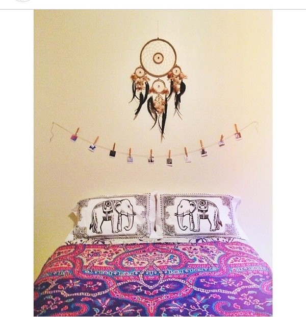bag hipster bedroom bedding elephant pillow sheets dreamcatcher
