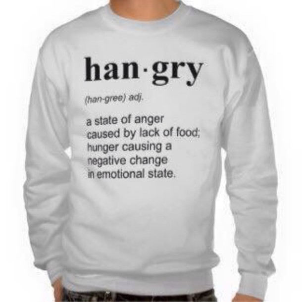 sweater hangry mens sweater