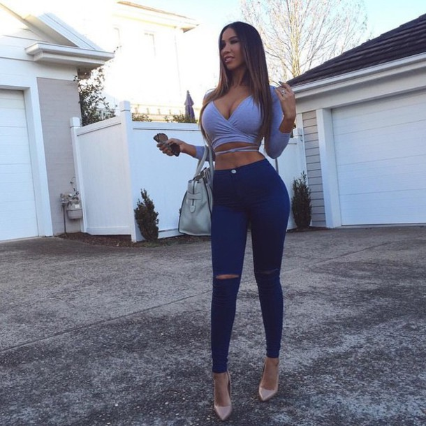 Jeans: outfit, sexy, fit, blue jeans, hot - Wheretoget