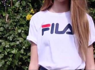 t-shirt fila shirt white