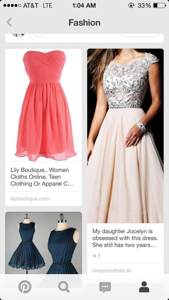 dress short strapless dress pink prom dress