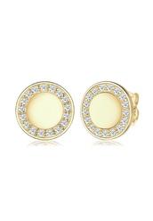 jewels,earrings,studs,gold,cubic zircona,disk