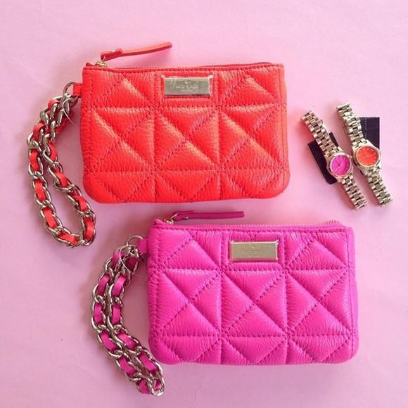 accessories bag wristlets wristlet wallet kate spade kate spade accessories kate spade wristlets kate spade wallets neon hot pink coral kate spade style